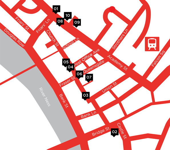 goNORTH Venues Map